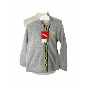 NWT boys size 5 puma full zip hooded sweatshirt